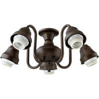 Quorum 2530-8086 Signature 5 Light CFL Oiled Bronze Fan Light Kit