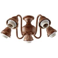 Quorum International Signature 5 Light Fan Light Kit in French Umber 2530-8094