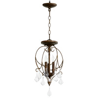 Quorum 2705-10-39 Ariel 3 Light 11 inch Vintage Copper Dual Mount Ceiling Light