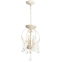 Quorum 2705-10-70 Ariel 3 Light 11 inch Persian White Dual Mount Ceiling Light