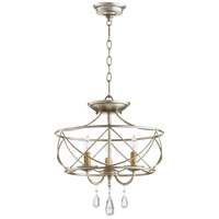 Quorum 2716-16-60 Cilia 16 inch Aged Silver Leaf Dual Mount Pendant Ceiling Light