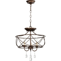 Quorum 2716-16-86 Cilia 3 Light 16 inch Oiled Bronze Dual Mount Ceiling Light