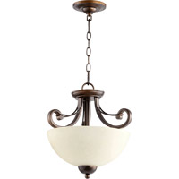 Wainwright 2 Light 15 inch Oiled Bronze Dual Mount Ceiling Light