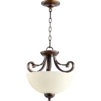 Quorum 2731-14-86 Wainwright 2 Light 15 inch Oiled Bronze Dual Mount Ceiling Light