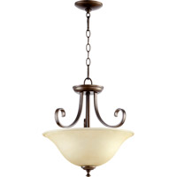 Quorum 2753-18-86 Celesta 2 Light 18 inch Oiled Bronze Dual Mount Ceiling Light