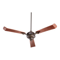 Quorum 27603-86 Brewster 60 inch Oiled Bronze with Distressed Vintage Walnut Blades Ceiling Fan