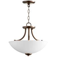 Quorum 2769-15-86 Barkley 3 Light 15 inch Oiled Bronze Dual Mount Pendant Ceiling Light