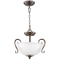 Quorum 2808-15-86 Powell 2 Light 15 inch Oiled Bronze Dual Mount Pendant Ceiling Light