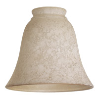 Quorum 2812A Signature Etruscan Slate and Amber 6 inch Glass Shade