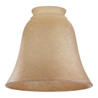 Quorum International Signature Glass Shade in Amber Indian Scavo 2812A1