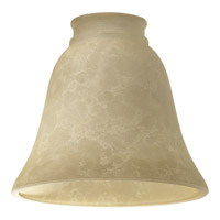 Quorum 2812E Signature Cream Mottled Scavo 6 inch Glass Shade