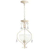 Quorum 2814-12-70 Ansley 1 Light 12 inch Persian White Dual Mount Ceiling Light