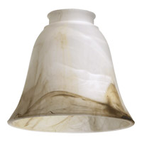 Quorum 2814 Signature Faux Brown Alabaster 6 inch Glass Shade