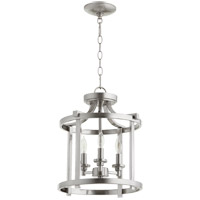 Quorum 2817-13-65 Lancaster 3 Light 13 inch Satin Nickel Dual Mount Ceiling Light