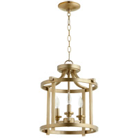Lancaster 3 Light 13 inch Aged Brass Dual Mount Ceiling Light