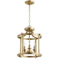 Quorum 2817-13-80 Lancaster 3 Light 13 inch Aged Brass Dual Mount Ceiling Light
