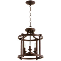 Lancaster 3 Light 13 inch Oiled Bronze Dual Mount Ceiling Light