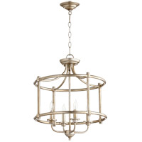 Rossington 4 Light 18 inch Aged Silver Leaf Dual Mount Ceiling Light