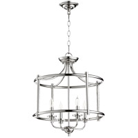 Quorum 2822-18-62 Rossington 4 Light 18 inch Polished Nickel Dual Mount Ceiling Light