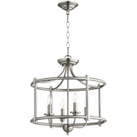Quorum 2822-18-65 Rossington 4 Light 18 inch Satin Nickel Dual Mount Ceiling Light