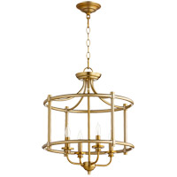 Rossington 4 Light 18 inch Aged Brass Dual Mount Ceiling Light