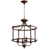 Quorum 2822-18-86 Rossington 4 Light 18 inch Oiled Bronze Dual Mount Ceiling Light