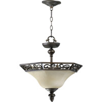 Quorum 2831-16-86 Marcela 3 Light 16 inch Oiled Bronze Dual Mount Ceiling Light
