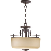 Quorum 2833-16-44 Prairie 2 Light 16 inch Toasted Sienna Dual Mount Ceiling Light