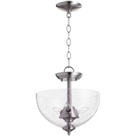 Quorum 2840-12-65 Fort Worth 3 Light 12 inch Satin Nickel Dual Mount Ceiling Light
