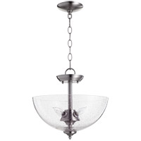 Quorum 2840-14-65 Fort Worth 4 Light 14 inch Satin Nickel Dual Mount Ceiling Light
