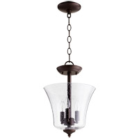 Quorum 2841-10-86 Signature 3 Light 10 inch Oiled Bronze Dual Mount Ceiling Light