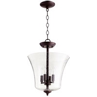 Quorum 2841-13-86 Signature 4 Light 13 inch Oiled Bronze Dual Mount Ceiling Light