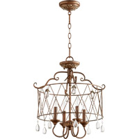 Quorum 2844-4-39 Venice 4 Light 18 inch Vintage Copper Dual Mount Ceiling Light