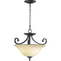 Bryant 3 Light 18 inch Oiled Bronze Dual Mount Ceiling Light