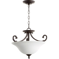 Quorum 2854-18186 Bryant 3 Light 18 inch Oiled Bronze Dual Mount Pendant Ceiling Light