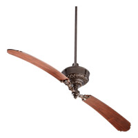 Turner 68 inch Oiled Bronze with Distressed Vintage Walnut Blades Ceiling Fan