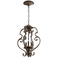 San Miguel 14 inch Vintage Copper Dual Mount Pendant Ceiling Light