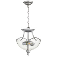 Quorum 2877-14-64 Aspen 2 Light 14 inch Classic Nickel Dual Mount Pendant Ceiling Light