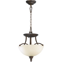 Quorum 2877-14-86 Aspen 2 Light 14 inch Oiled Bronze Dual Mount Ceiling Light