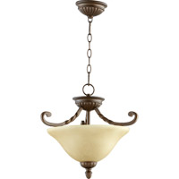 Quorum 2878-17186 Tribeca II 2 Light 17 inch Oiled Bronze Dual Mount Ceiling Light