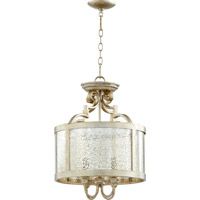 Champlain 4 Light Aged Silver Leaf Dual Mount Ceiling Light