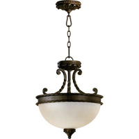 Alameda 2 Light 15 inch Oiled Bronze Dual Mount Ceiling Light