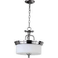 Rockwood 3 Light 14 inch Satin Nickel Dual Mount Ceiling Light