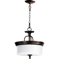 Quorum 2890-14-86 Rockwood 3 Light 14 inch Oiled Bronze Dual Mount Ceiling Light