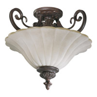 Coronado 2 Light 18 inch Gilded Bronze Dual Mount Ceiling Light