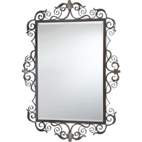 Quorum International Belmira Mirror in Toasted Sienna With Golden Fawn 291-44