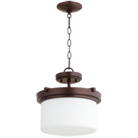 Lancaster 2 Light 13 inch Oiled Bronze Dual Mount Ceiling Light