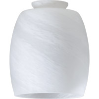 Quorum International Signature Glass Shade in Faux Alabaster 2943