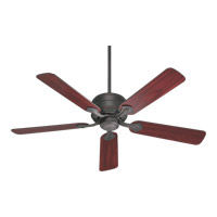Quorum 29525-44 Hanover 52 inch Toasted Sienna with Rosewood Blades Ceiling Fan