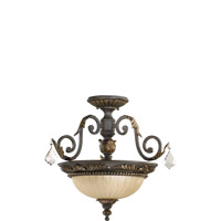 Quorum 2957-17-44 Rio Salado 2 Light 17 inch Toasted Sienna With Mystic Silver Dual Mount Ceiling Light